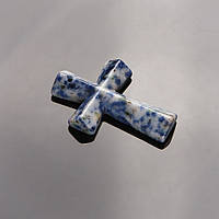 Кулон Крест каменный Лазурит 4,5х3см