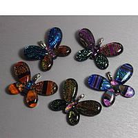 Бабочка муранское стекло 4,5х3см на выбор