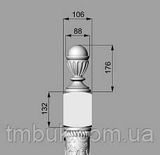 Заходной столб 18 - 1100х106х106 мм, фото 3