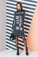 Теплое вязаное платье с орнаментом «Ульяна» Универсальный размер 44-50 3f35ab90ebe77