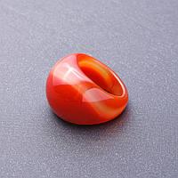 Кольцо перстень из натурального камня Сердолик р-р 20мм