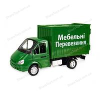 """Игрушечная газель с будкой """"Автопром"""" мебельные перевозки"""