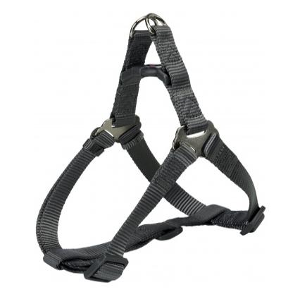 Шлея-петля Trixie Premium One Touch Harness для собак нейлоновая, XL: 80–100 см/ 25 см серая