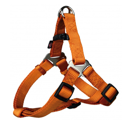 Шлея-петля Trixie Premium One Touch Harness для собак нейлоновая, XL: 80–100 см/ 25 оранжевая