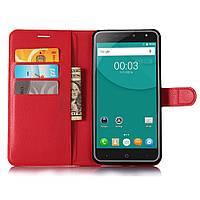 Чехол-книжка Litchie Wallet для Doogee X7 / X7 Pro / X7s Красный