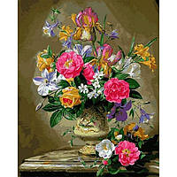 Картина раскраска по номерам на холсте - 40*50см Mariposa Q2168 Розы цвета фламинго