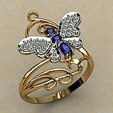 Кольцо  женское серебряное Бабочка с Филигранью, фото 2