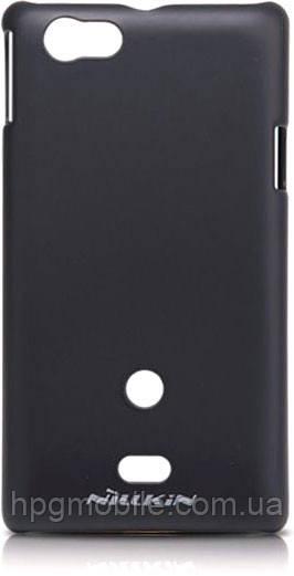 Чехол для Sony Xperia miro ST23i - Nillkin Super Frosted Shield (пленка в комплекте)