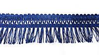 Бахрома  с  узором  лапша 5 см  синий