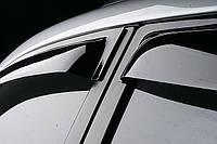 Дефлекторы окон (ветровики) Volkswagen TIGUAN 2008-, 4ч., темный/хром