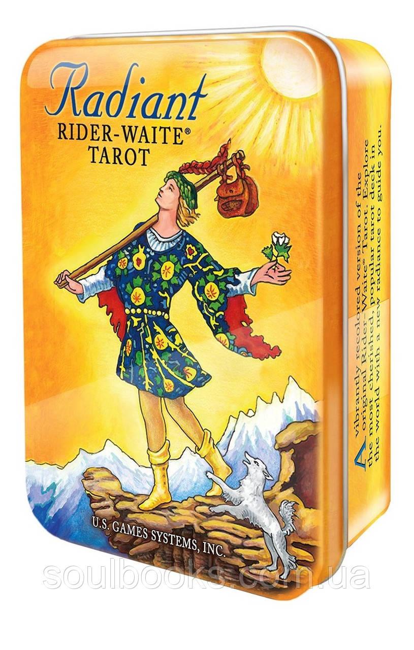 """Карты Таро """"Radiant Rider-Waite Tarot"""" (Яркое Таро Райдера-Уэйта) в жестяной коробке"""