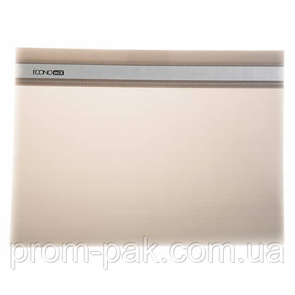 Папка скоросшиватель а4 Economix  31511-10 цвет: серый, фото 2