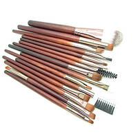 Набор из 15 кистей для макияжа с деревянными ручками, фото 1