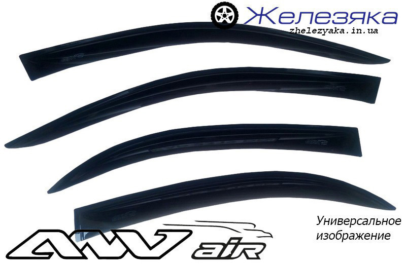 Ветровики Lada Kalina II 2192 hatchback 2013 (ANV air)