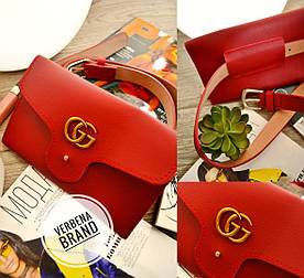 Женская сумка на пояс из эко кожи в расцветках. ВЕ-22-1218