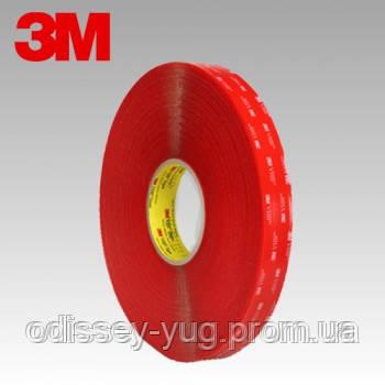 Двусторонняя клейкая лента 3M 4910F VHB ( 6 мм. х 33 м  х 1 мм).Прозрачная.4910