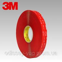Двусторонняя клейкая лента 3M4910F VHB ( 6 мм. х 33 м  х 1 мм).Прозрачная.4910