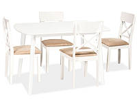 Стол обеденный деревянный Luton Signal белый