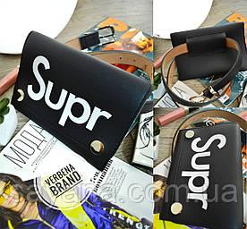 Женская сумка на пояс из эко кожи с сублимацией в расцветках. ВЕ-23-1218