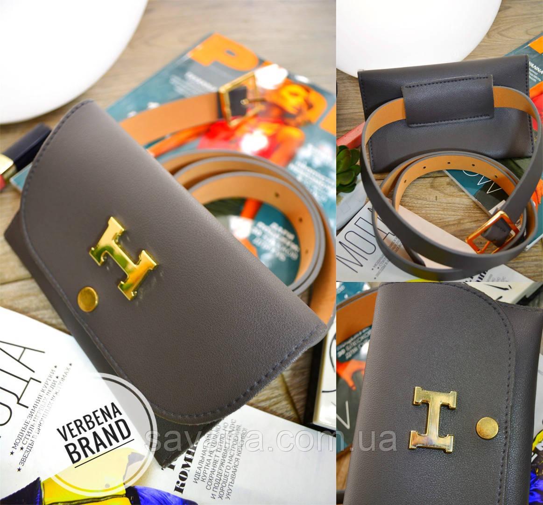Женская сумка на пояс из эко кожи в расцветках. ВЕ-24-1218