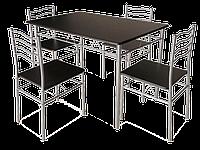Стол обеденный деревянный Esprit венге + 4 стула Signal