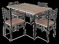 Стол обеденный деревянный Esprit сонома + 4 стула Signal