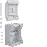 VE106D Щит распределительный на 6 мод., накладного монтажа з прозрачной дверцей, IP65, VECTOR (Hager)