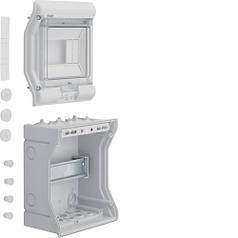 Щит розподільчий на 6 мод., накладного монтажу з прозорою дверцятами, IP65, VECTOR (Hager)