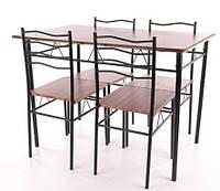Стол обеденный деревянный Esprit орех + 4 стула Signal