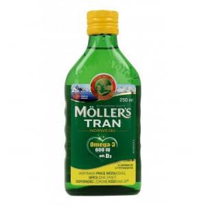 Mollers tran omega-3 норвежский рыбий жир от 3 лет и взрослых с лимоном, 250 мл