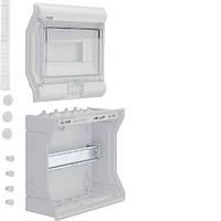 VE110D Щит распределительный на 10 мод., накладного монтажа з прозрачной дверцей, IP65, VECTOR (Hager)