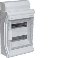 VE212DN Щит распределительный на 24 (28) мод., накладного монтажа з прозрачной дверцей, IP65, VECTOR (Hager)