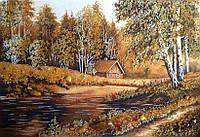 Картина из натурального янтаря 3