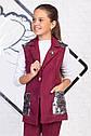 Стильный костюм с пайетками: брюки и удлиненный жилет на подростка Размер 158, фото 4