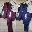 Стильный костюм с пайетками: брюки и удлиненный жилет на подростка Размер 158, фото 8