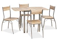 Стол обеденный деревянный Gobi + 4 стула Signal