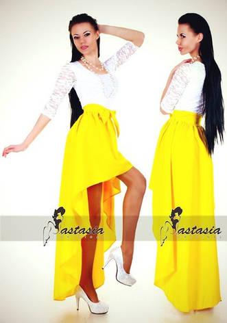 Платье габардин с гипюром , фото 2