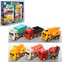 Детский набор машинок Строительная техника (строй техника), строительные машины 6 шт, BHX699-5