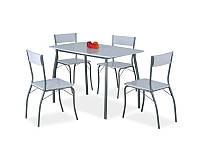Стол обеденный деревянный Modus серый + 4 стула Signal