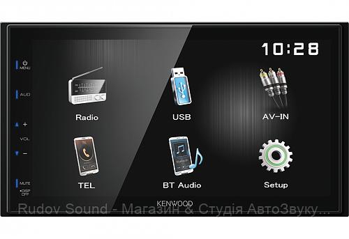 Автомагнитола Kenwood DMX110BT (USB|AUX|BT|6-RCA)