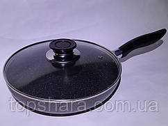 Сковорода алюминиевая тефлоновая с антипригарным покрытием Wimpex WX2405 24 см