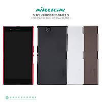 Чехол для Sony Xperia Z Ultra C6802 - Nillkin Super Frosted Shield (пленка в комплекте)