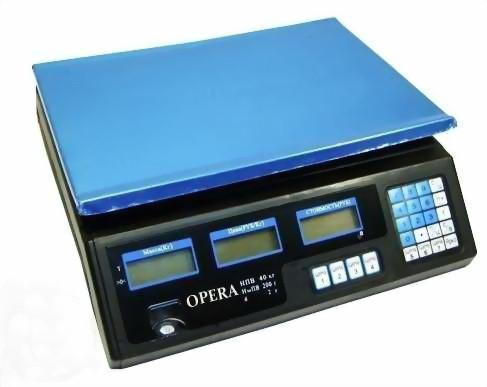 Электронные торговые весы, 40 кг