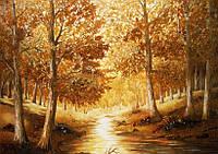 Картина из янтаря. Пейзаж 17