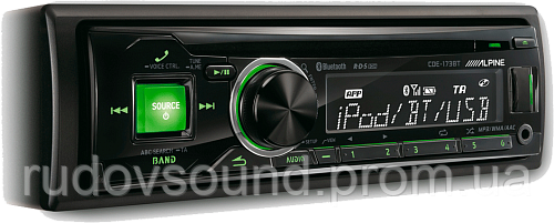 Автомагнитола Alpine CDE-173BT (CD|USB|AUX|BT|4-RCA|DSP)