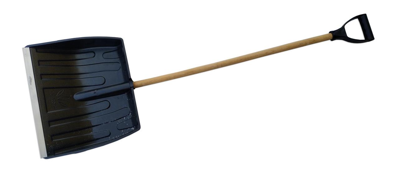 Лопата снегоуборочная пластиковая с черенком (Горизонт)