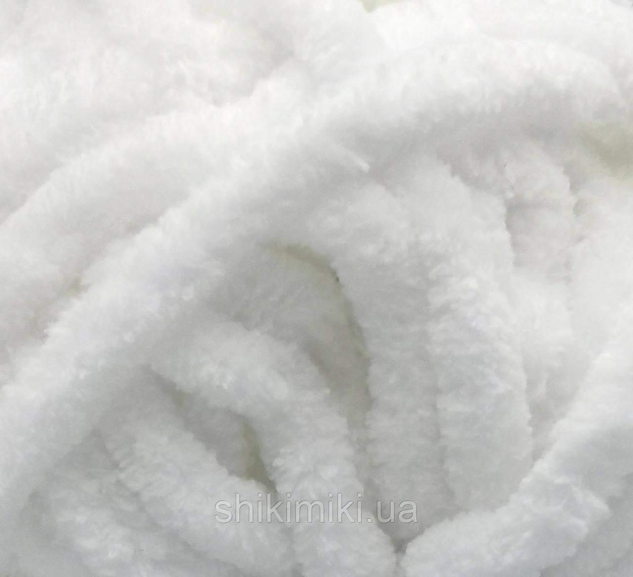 Пряжа велюровая Dolphin Big, цвет Белый