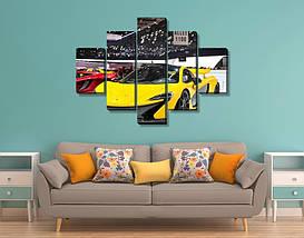 Модульные триптих картины, Авто, 75х110см.  (30x20-2/55x20-2/90x20), фото 2