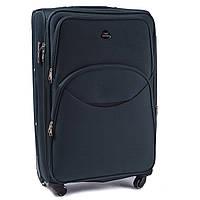 Большой тканевый чемодан Wings 1708 на 4 колесах зеленый, фото 1