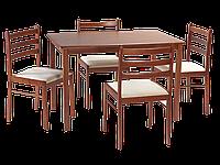 Стол обеденный деревянный Starter II черешня + 4 стула Signal